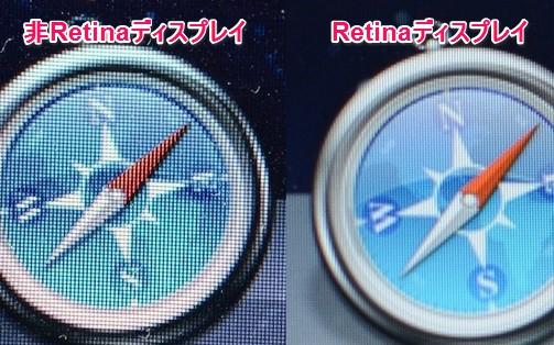 Retinaディスプレイ比較