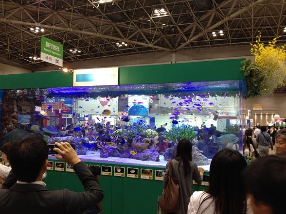 ちゅら海水族館の大きな水槽の展示