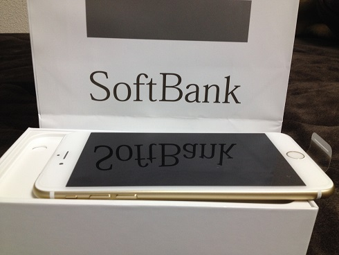 遂に手に入れました!SoftBankのiphone6 Plus 64GB Gold!